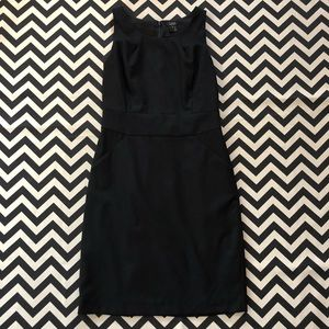 J.Crew Super 120s Classic Black Sheath Dress